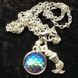 """Jewelry - 3/4"""" 925 STERLING SILVER ~ 20"""" SILVER PLATED CHAIN"""